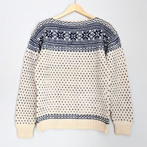 Vintage Nordic Style Wool Blend Sweater